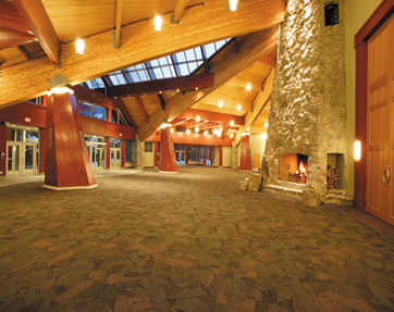 Lobby of the Telus conference center in Whistler